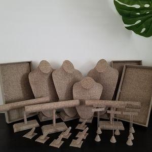NEW Eco Chic Burlap Jewelry Display Kit (23 pieces